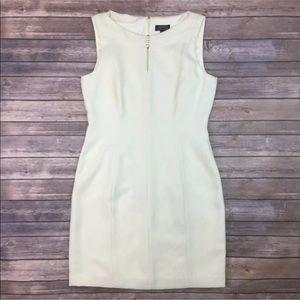 Tahari Woven Pearls Keyhole Sheath Dress Suiting